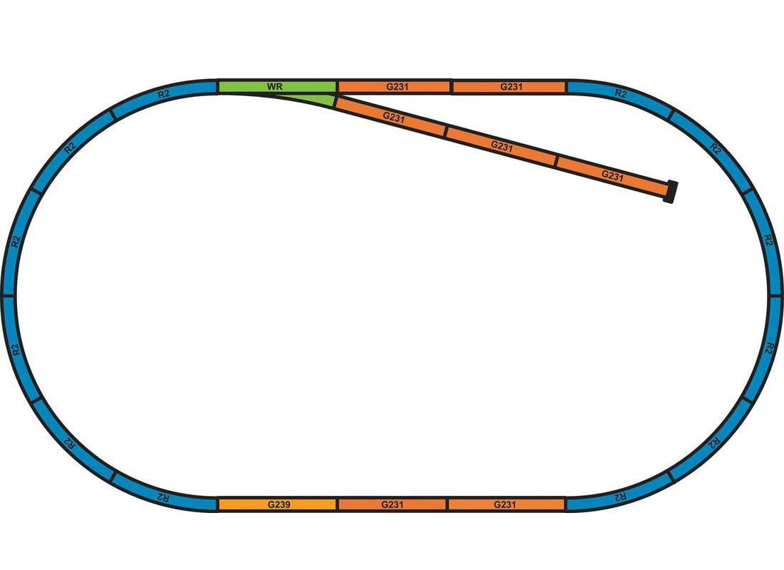 Piko Sada podloží pro sadu kolejí A+B - 55366