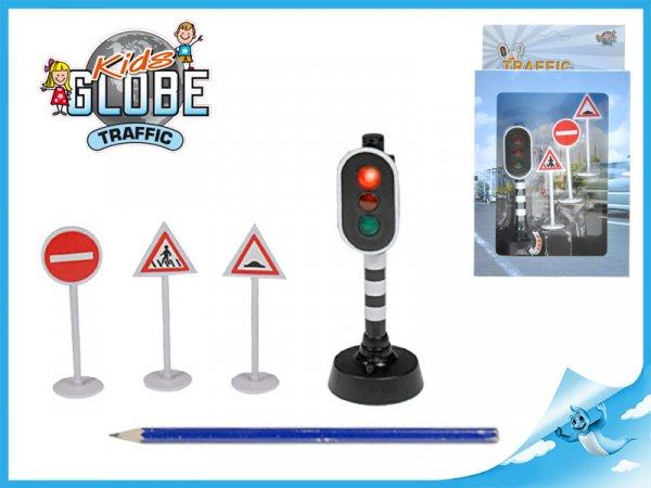 Svítící semafor s 3 značkami