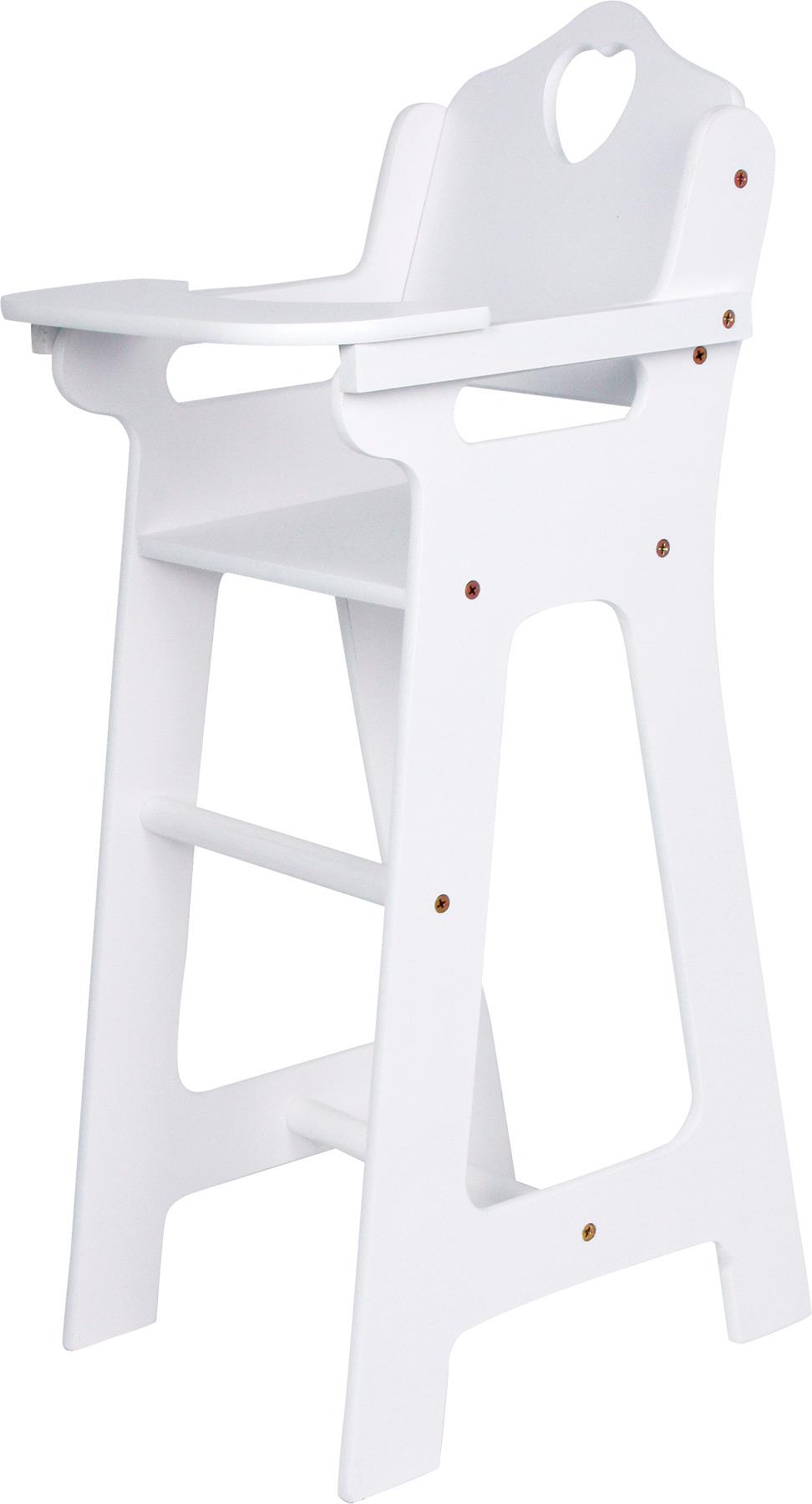 Small Foot Dřevěná židlička pro panenky bílá velká