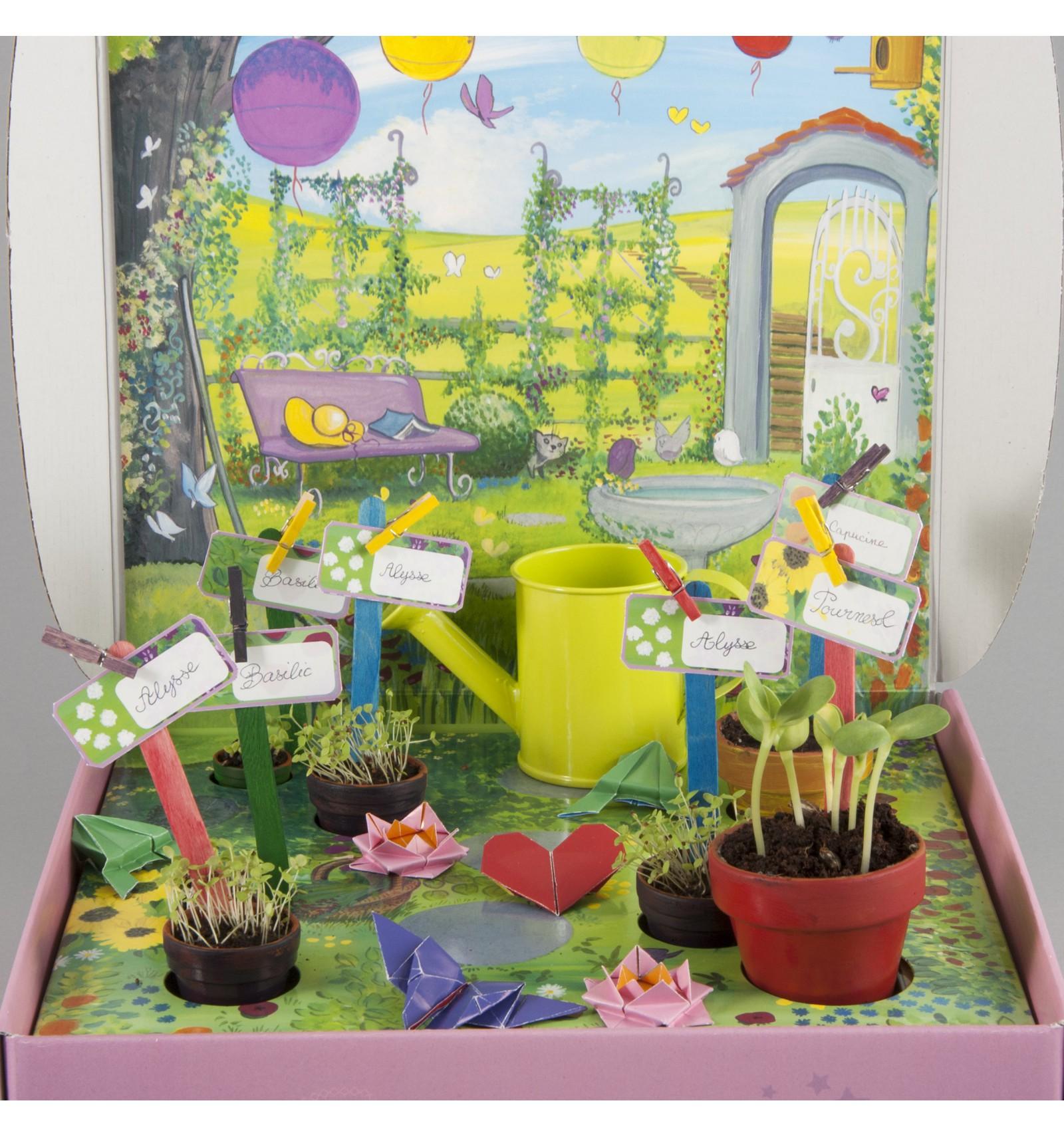 Mini zahrádka - Veselý box s květináčky - Moje tajná zadrádka