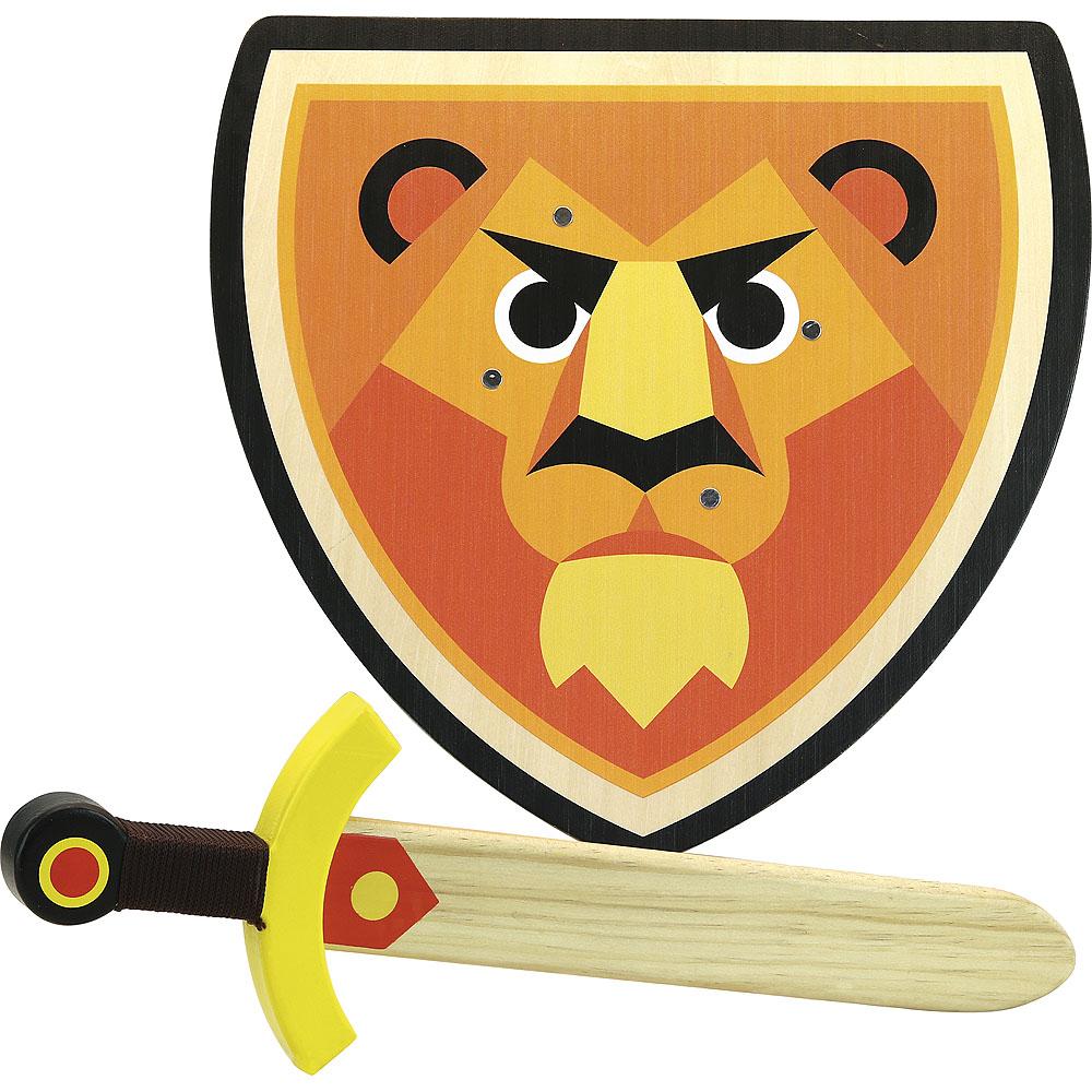 Vilac Dřevěný štít a meč Lev
