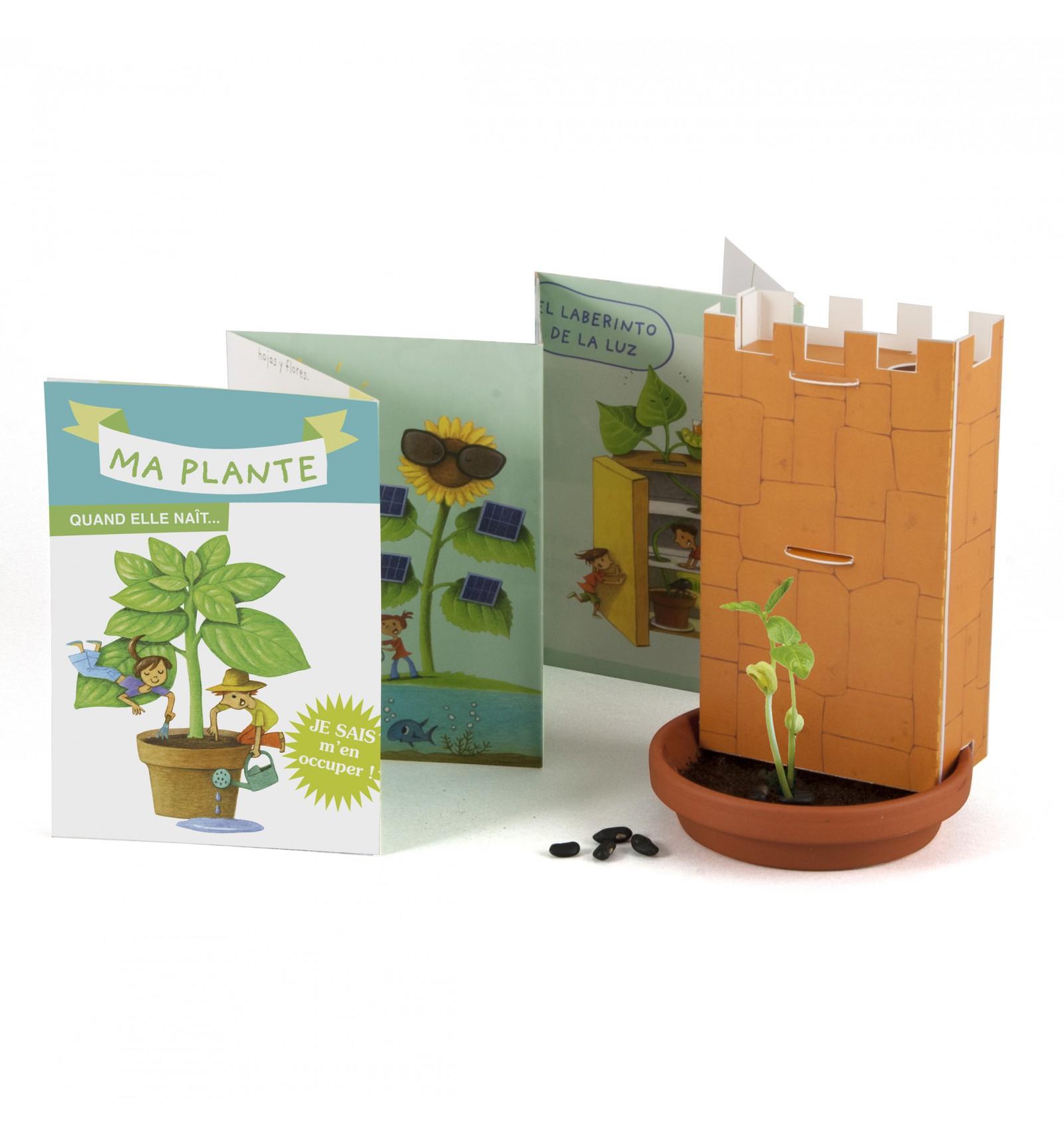 Mini zahrádka - Veselý box s květináčky - Objev zázrak klíčení