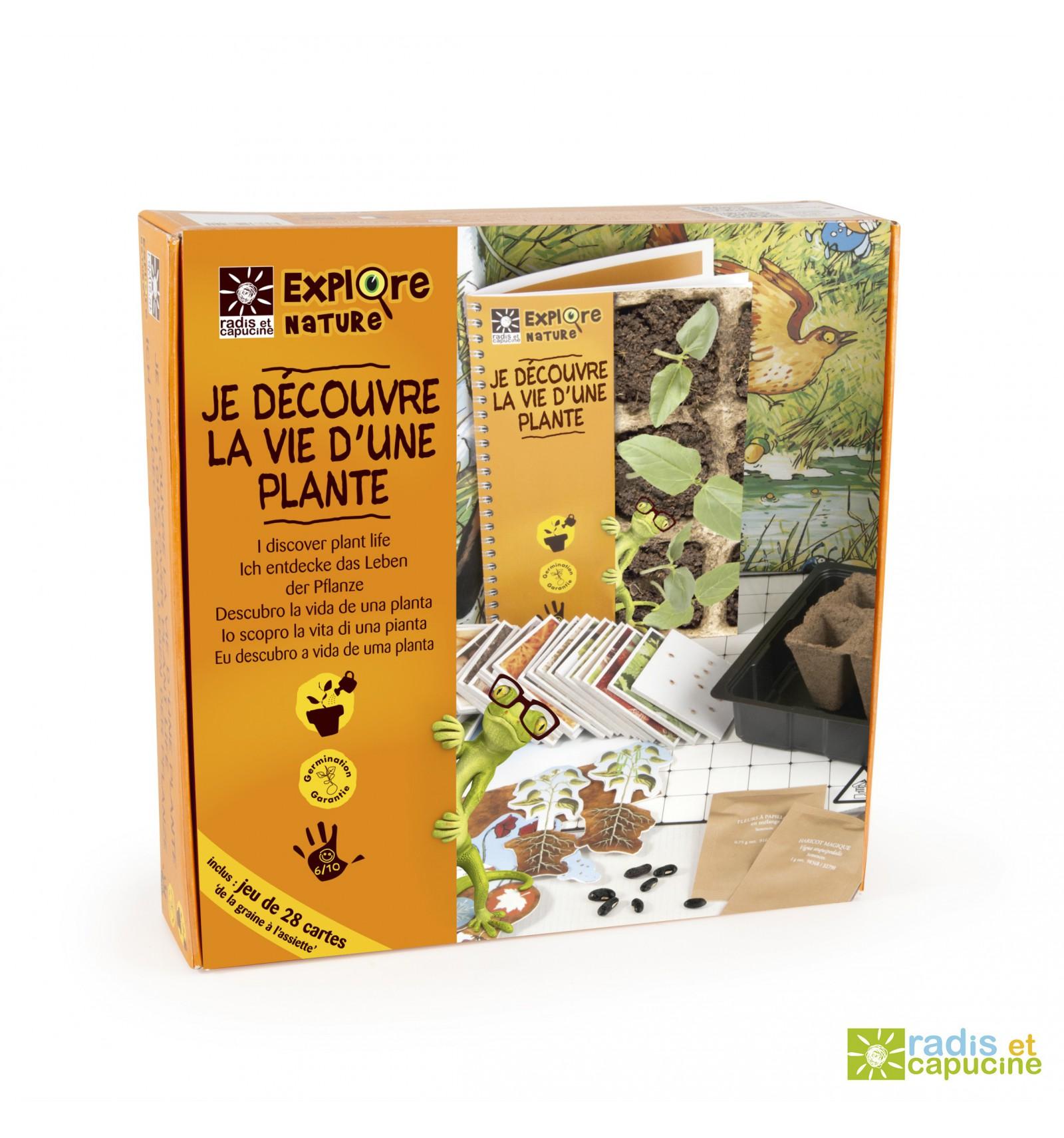 Mini zahrádka - Veselý box s květináčky - Objev život rostlin