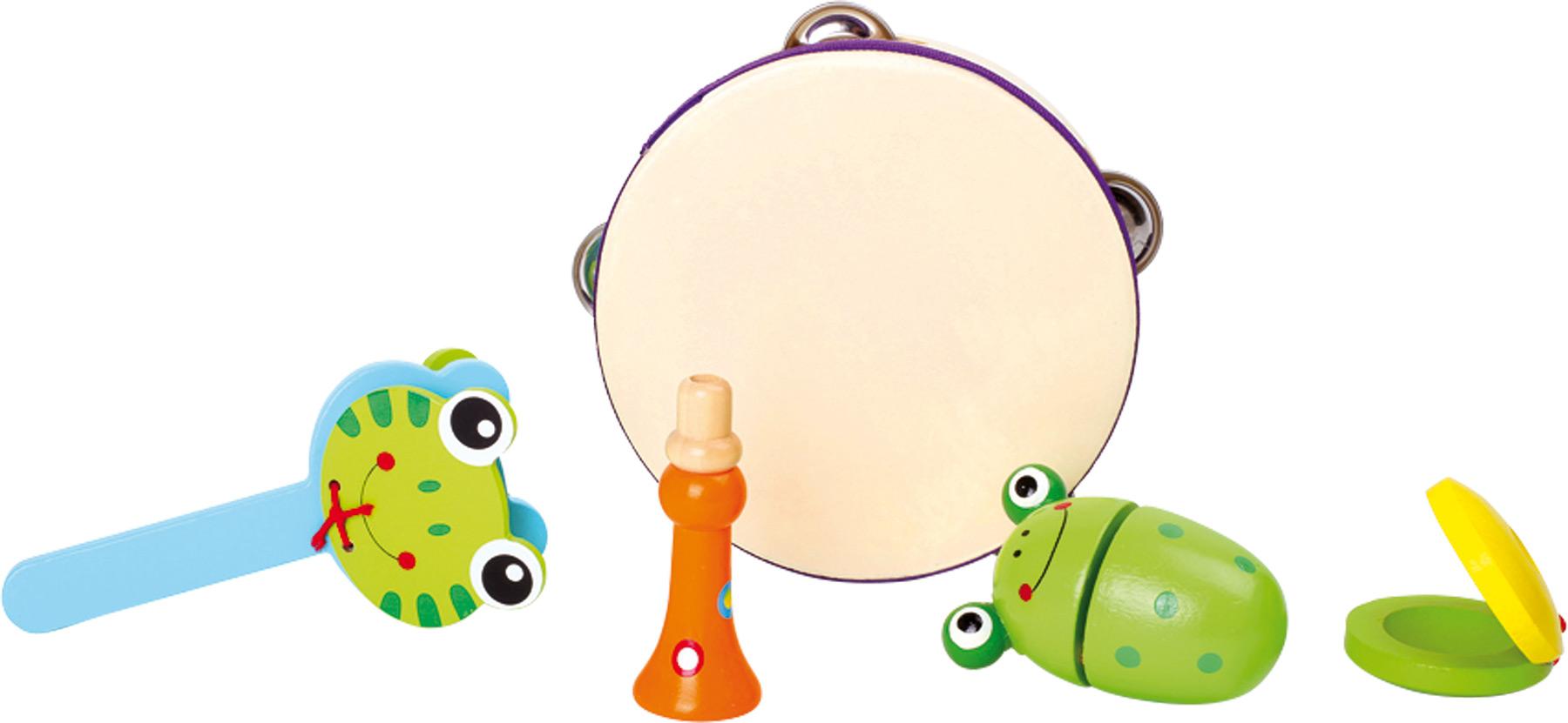 Dřevěné hračky - Dřevěná hudební sada žabky