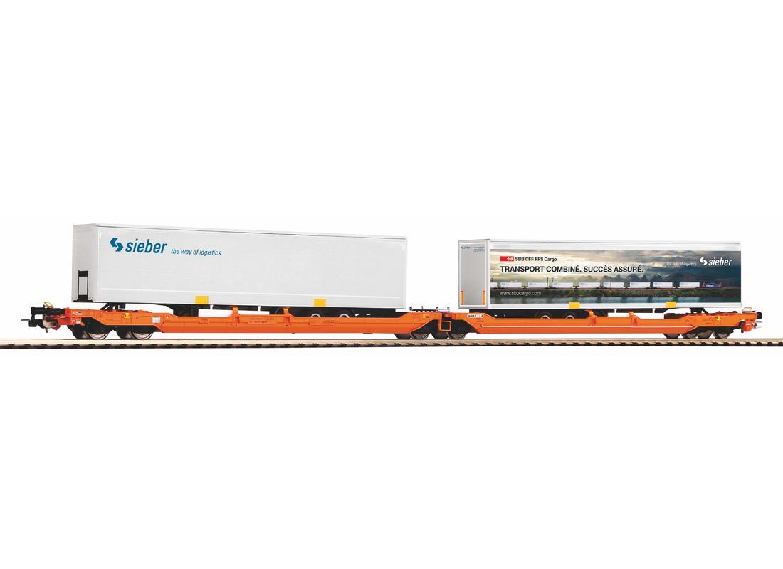 Piko Nákladní vagón T3000e Wascosa s 2 kontejnery Sieber VI - 58972