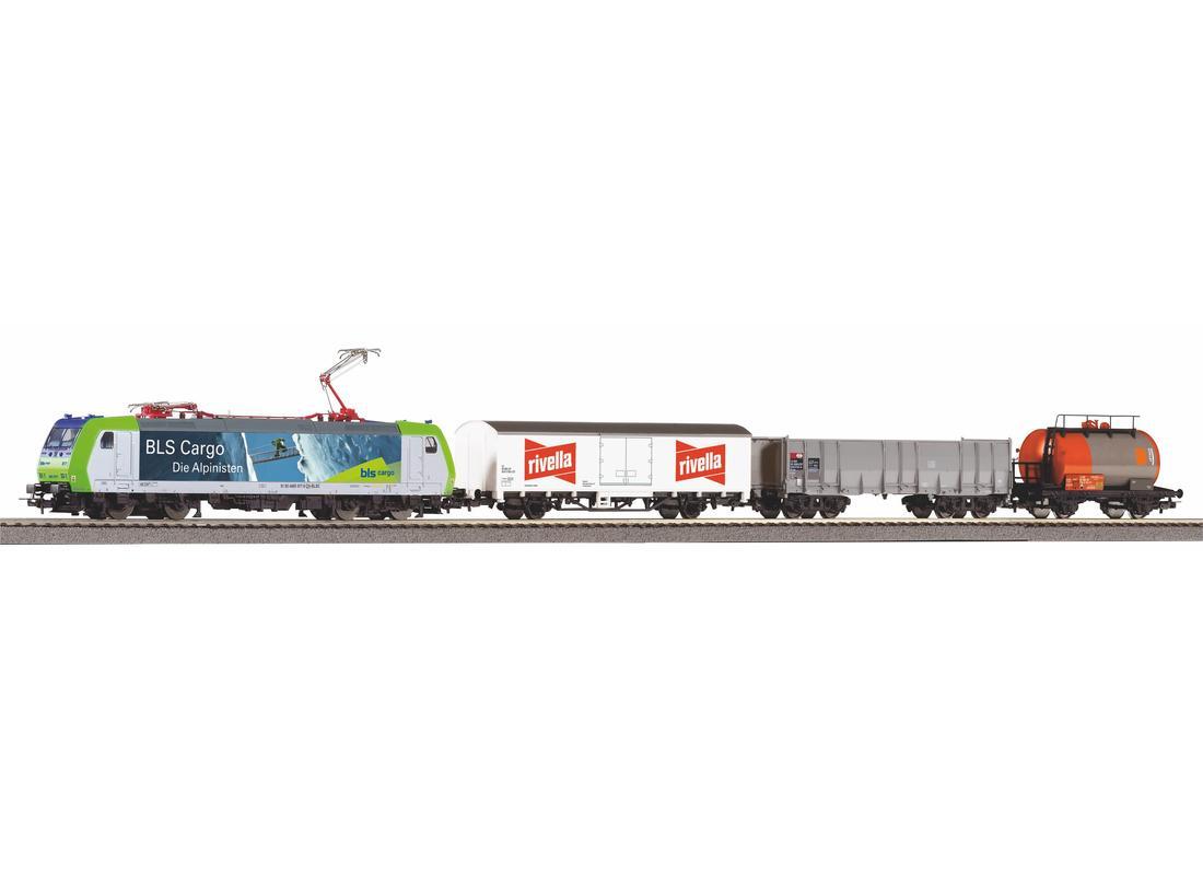 Piko Startovací sada nákladní vlak BLS Re 485 s vagóny  VI - 59028
