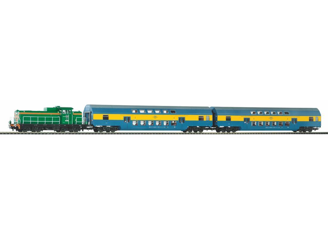 Piko Startovací sada Osobní vlak s PKP dvoupatrovými vagóny VI - 97934