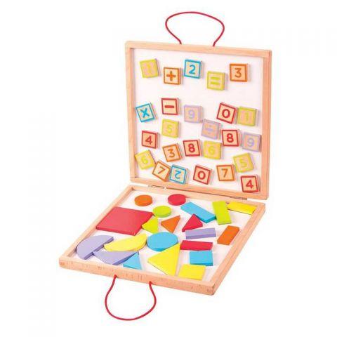 Dřevěná výtvarná hračka - Magnetický kufřík - Poškozená krabička