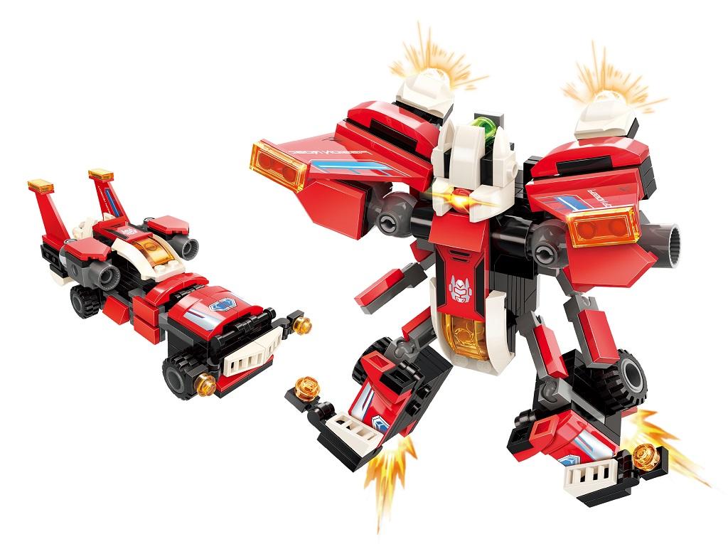 """Qman Guardian of Star's Core 3102-1 Závodní auto """"Scarlet Wings"""" 2v1"""