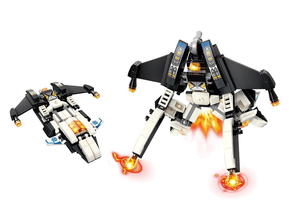 """Qman Guardian of Star's Core 3102-5 Noční válečné letadlo """"Mark"""" 2v1"""