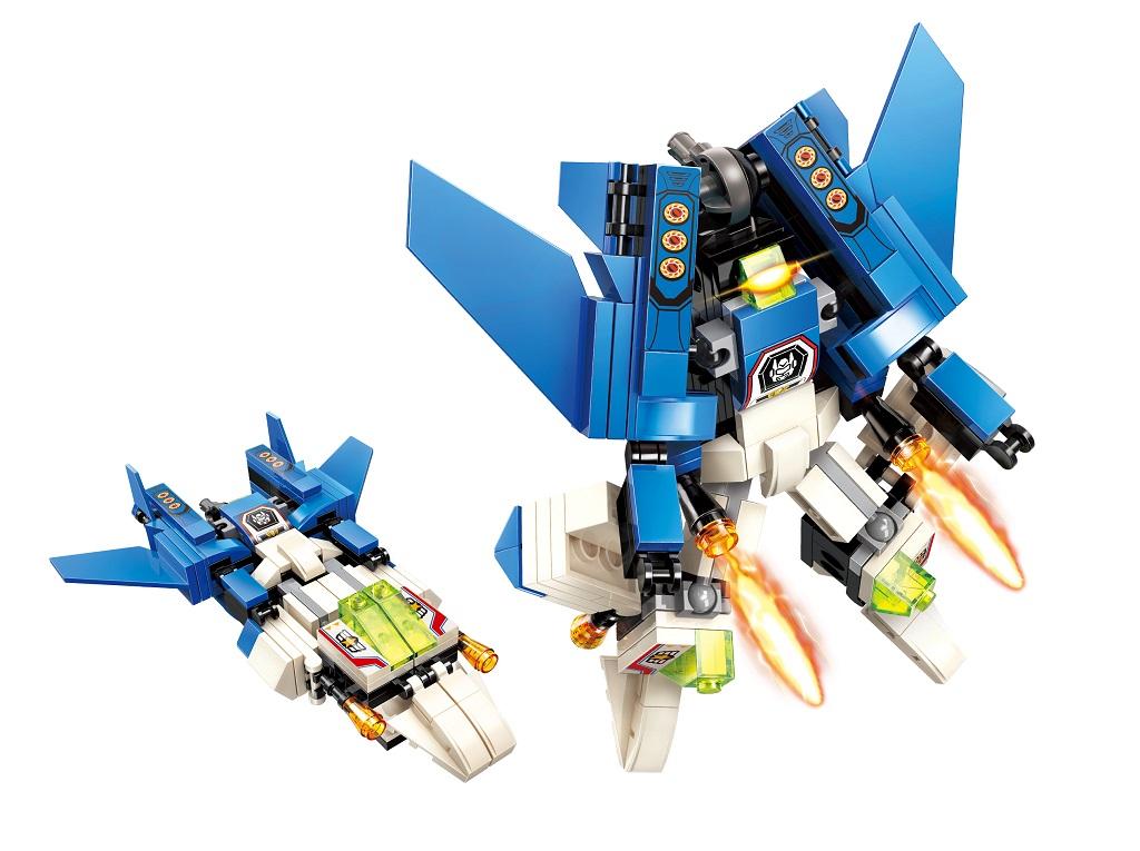 "Qman Guardian of Star's Core 3102-6 Válečné letadlo ""Wind"" 2v1"