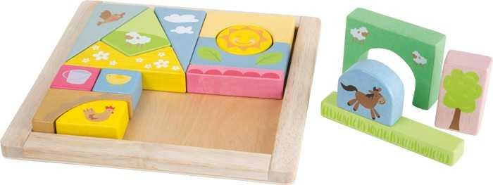 Small Foot vkládací puzzle farma