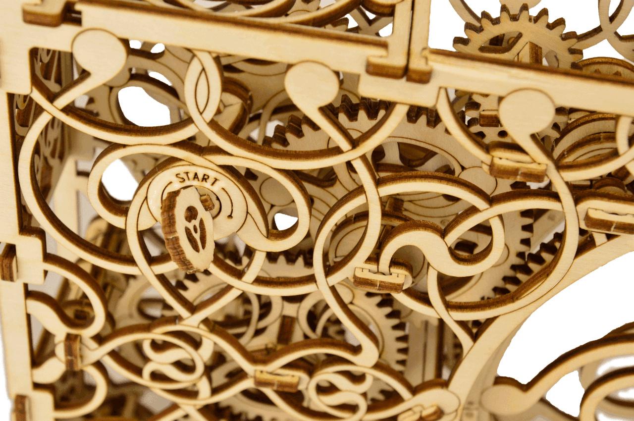 Wooden City 3D mechanické puzzle - Mechanický obraz