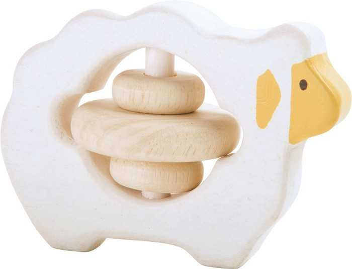 Small Foot Dřevěná hračka pro uchopení chrastítko ovečka