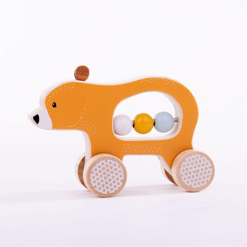 Bigjigs Toys Medvídek na kolečkách - poškozený obal