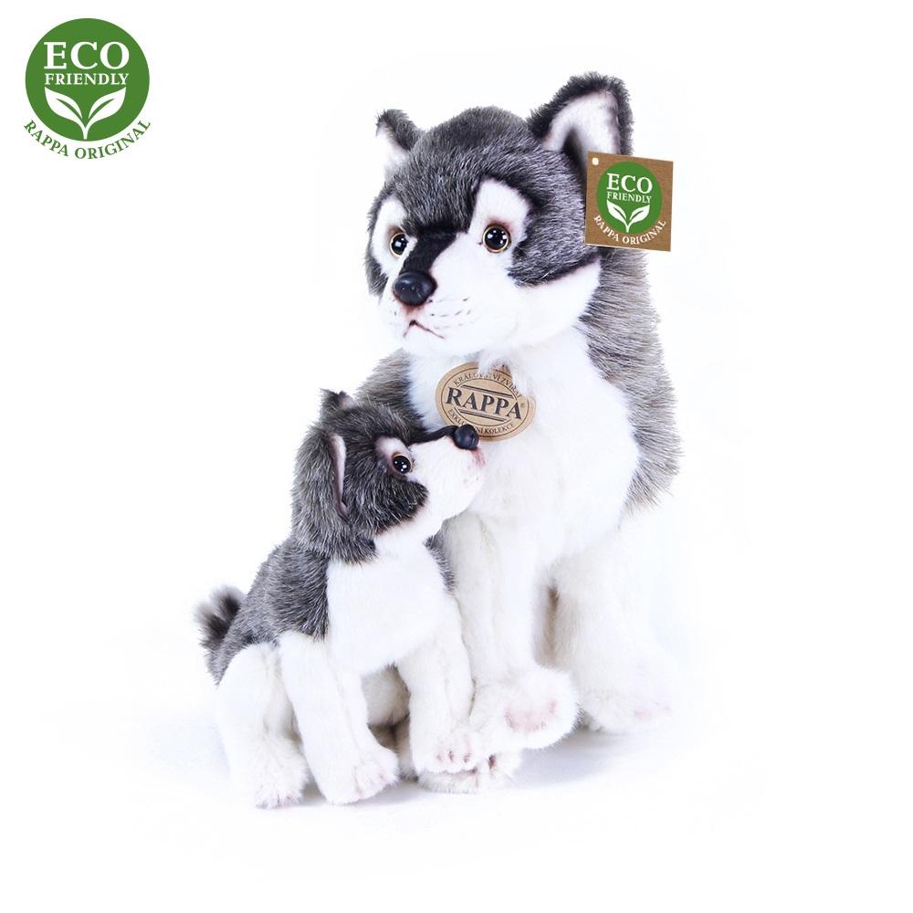 Rappa Plyšový vlk s mládětem 27cm ECO-FRIENDLY