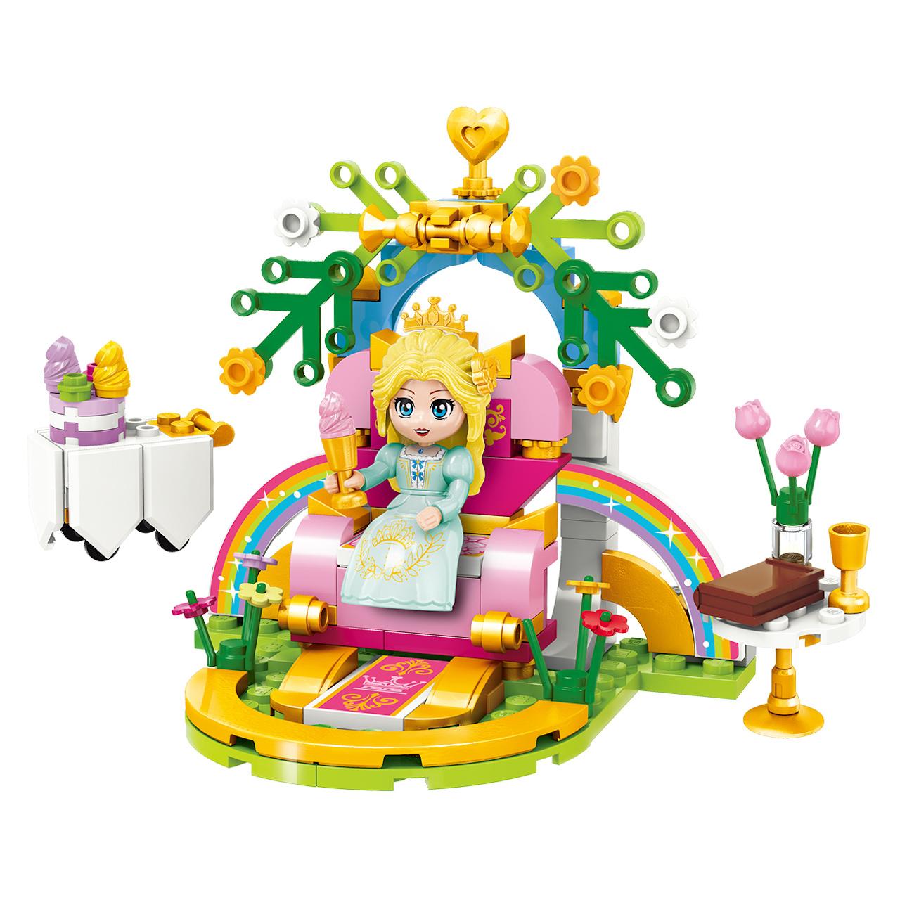 Qman Princess Leah 32011-3 Duhový trůn