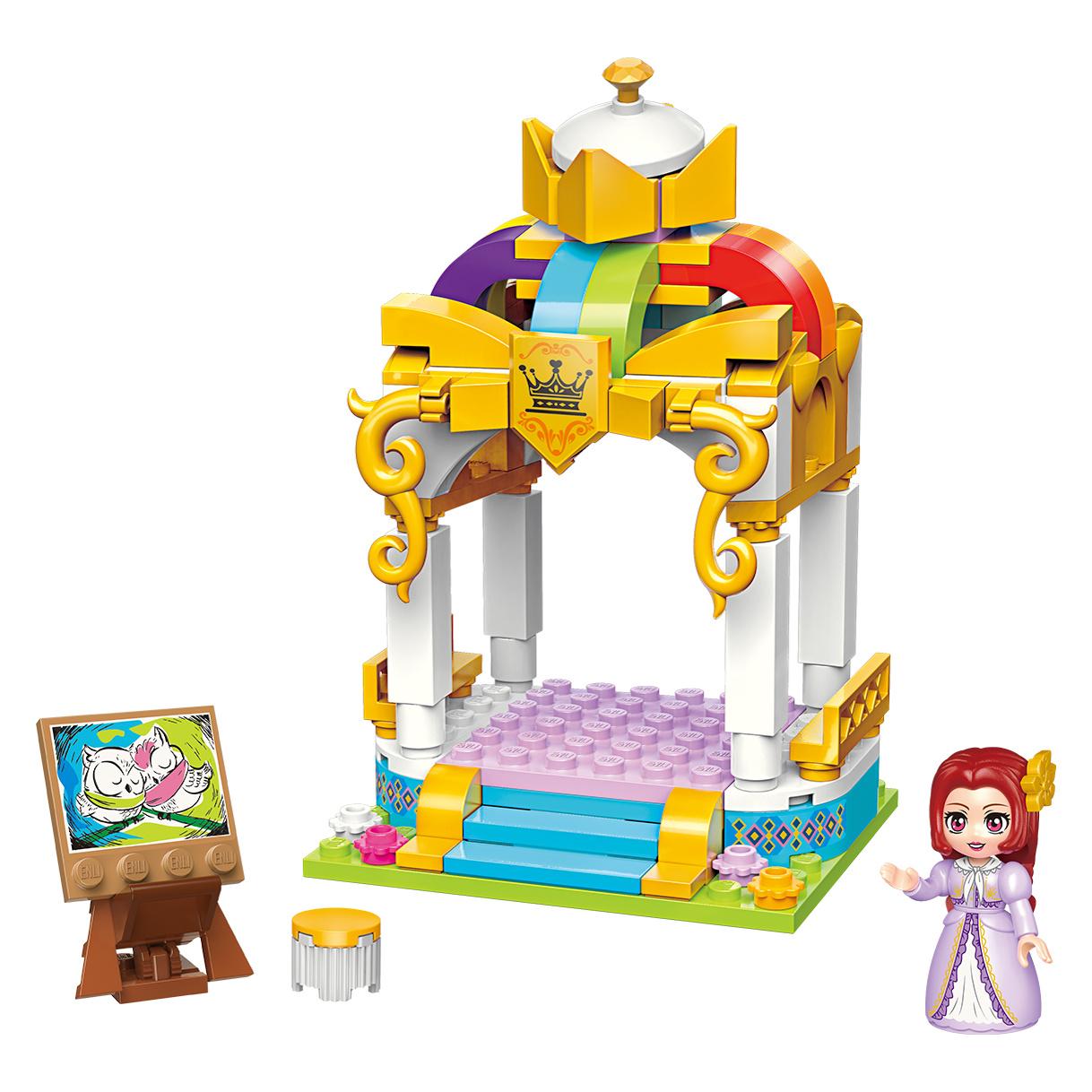 Qman Princess Leah 32011-4 Barevně glazovaný pavilon