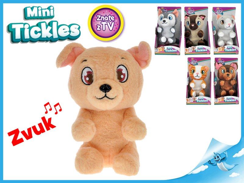 Mini Tickles plyšové zvířátko1ks kočička hnědá