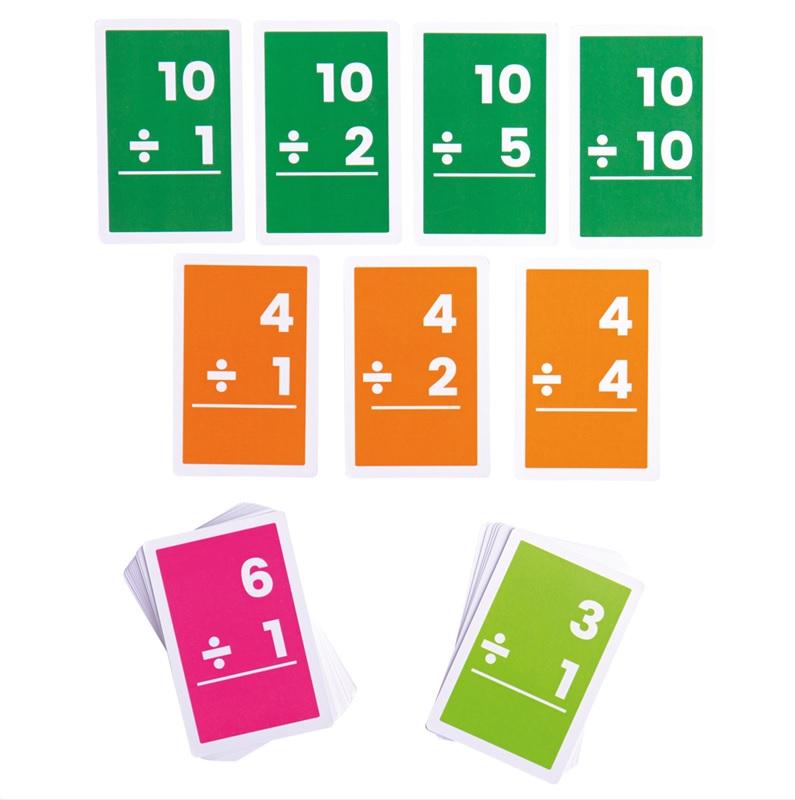 Bigjigs Toys Kartičky dělení 1-10