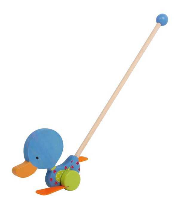 Small Foot Tahací hračky kolébající se kačenka modrá