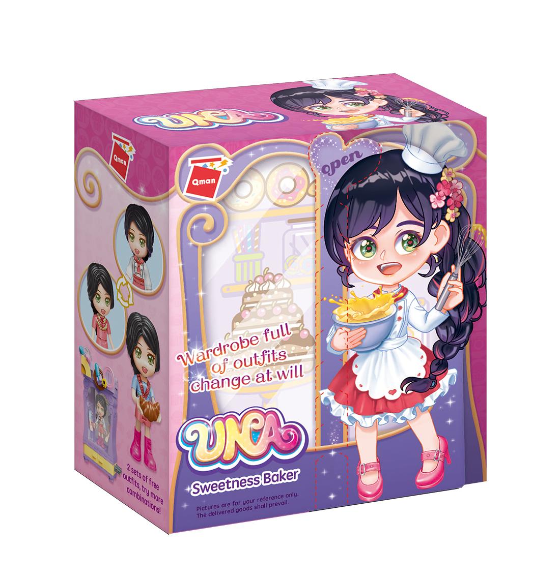 Qman UNA Series 34011-7 Šatní skříň cukrářky