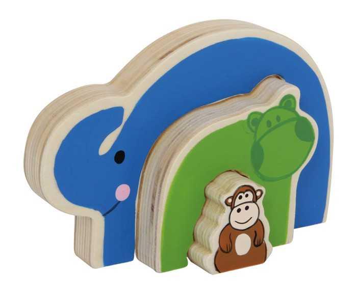 Dřevěné hračky - Dřevěné puzzle - 3D Puzzle Zvířata