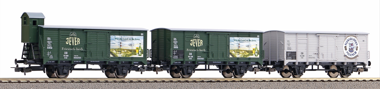 """Piko Sada 3 krytých vagónů G02 """"severoněmecké pivovary"""" DB III - 58398"""