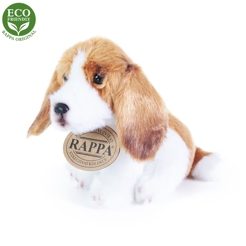 Rappa Plyšový pes sedící 11 cm ECO-FRIENDLY 1 ks - E Rappa Plyšový pes sedící 11 cm ECO-FRIENDLY 1 ks - E