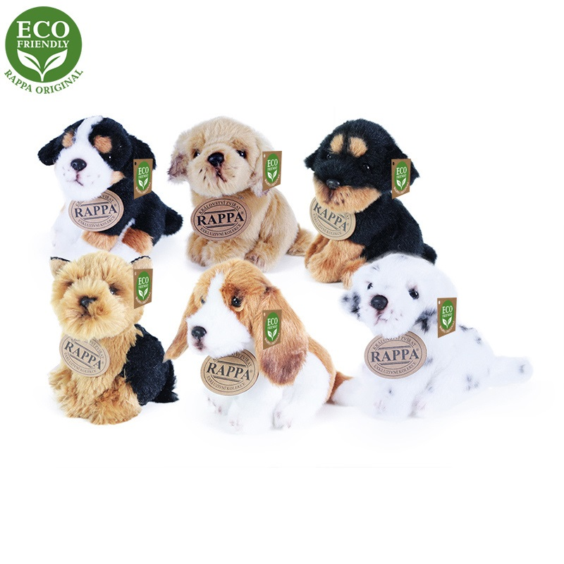 Rappa Plyšový pes sedící 11 cm ECO-FRIENDLY 1 ks