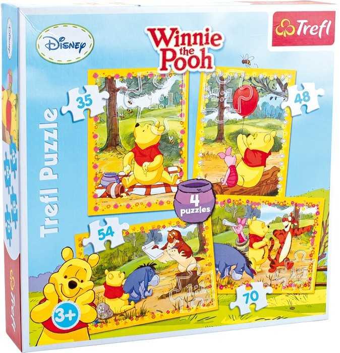 Papírové puzzle 4 v 1 Winnie the Pooh