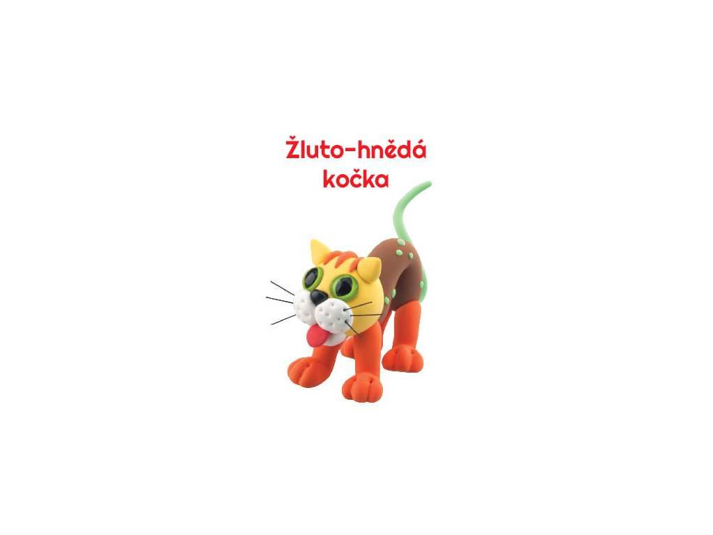 Paulinda modelovací hmota Sweet cat žluto-hnědá