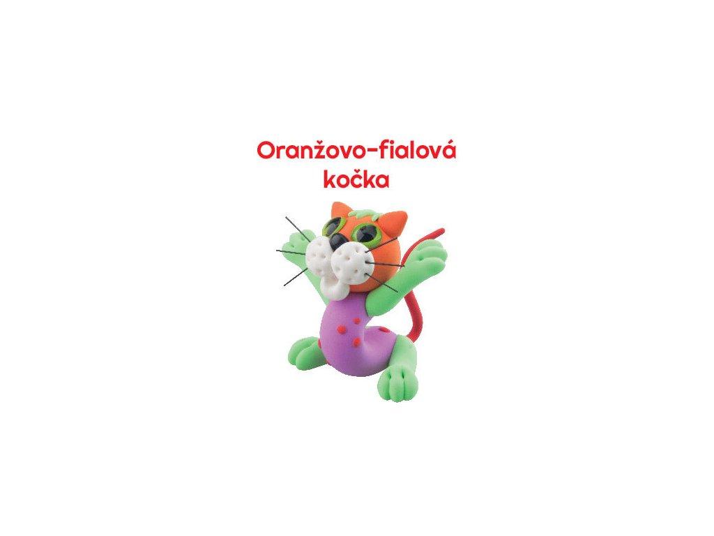 Paulinda modelovací hmota Sweet cat oranžovo-fialová