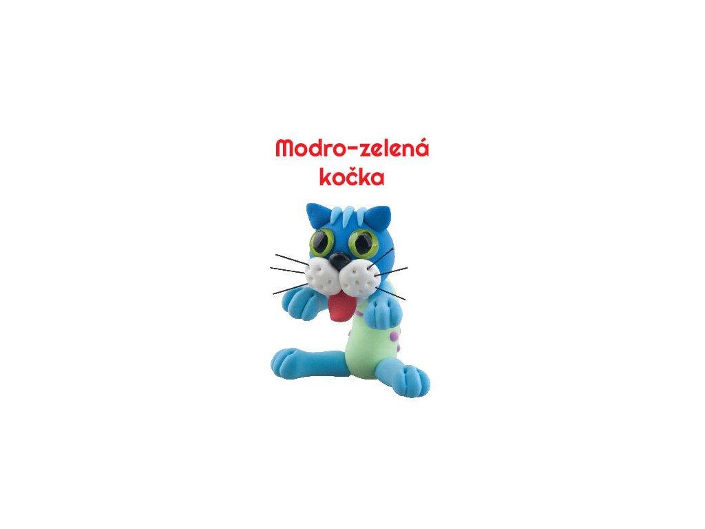 Paulinda modelovací hmota Sweet cat modro-zelená