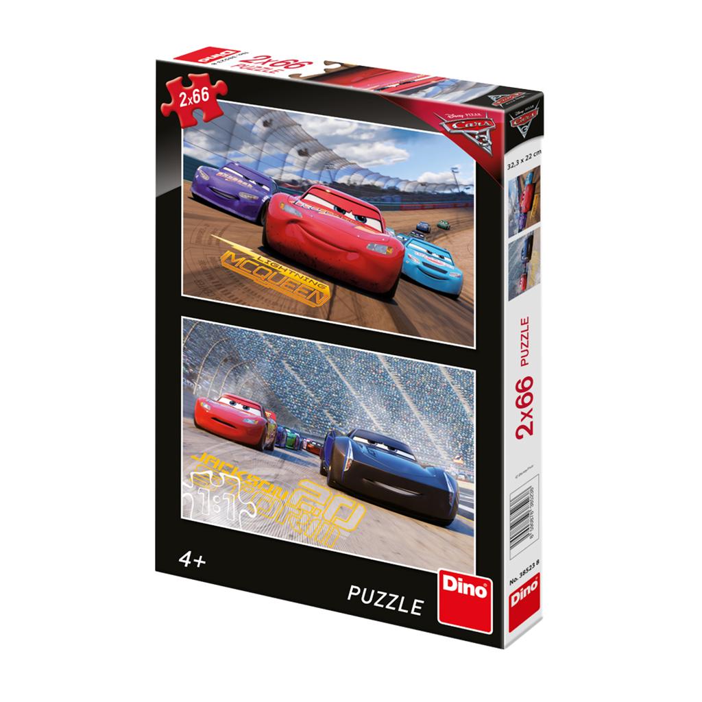 Dino Puzzle CARS 3: Závod 2x66 dílků
