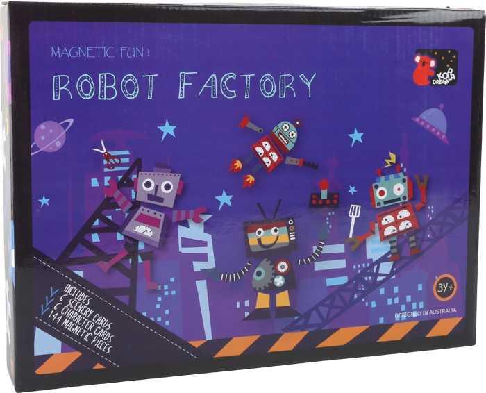 Magnetické puzzle roboti