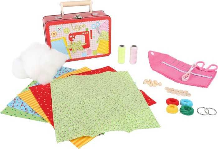 Small Foot Hračky pro holky dětský kufr šicí sada