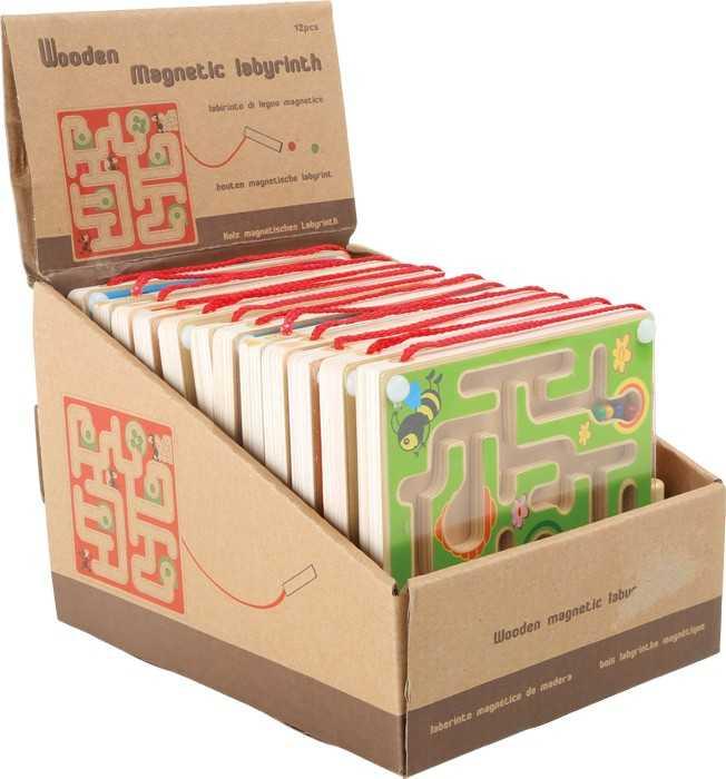 Small Foot Displej dřevěný kuličkový magnetický labyrint 12 ks