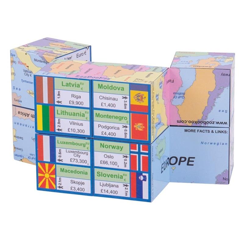 Didaktická kniha v kostce - Mapa Evropy