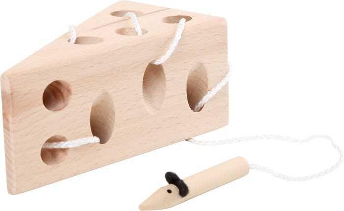 Small Foot Hra na provlékání Sýr s myší přírodní verze