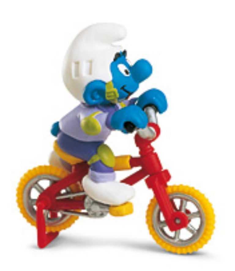 Figurky šmoulové  Schleich - Šmoula na kole