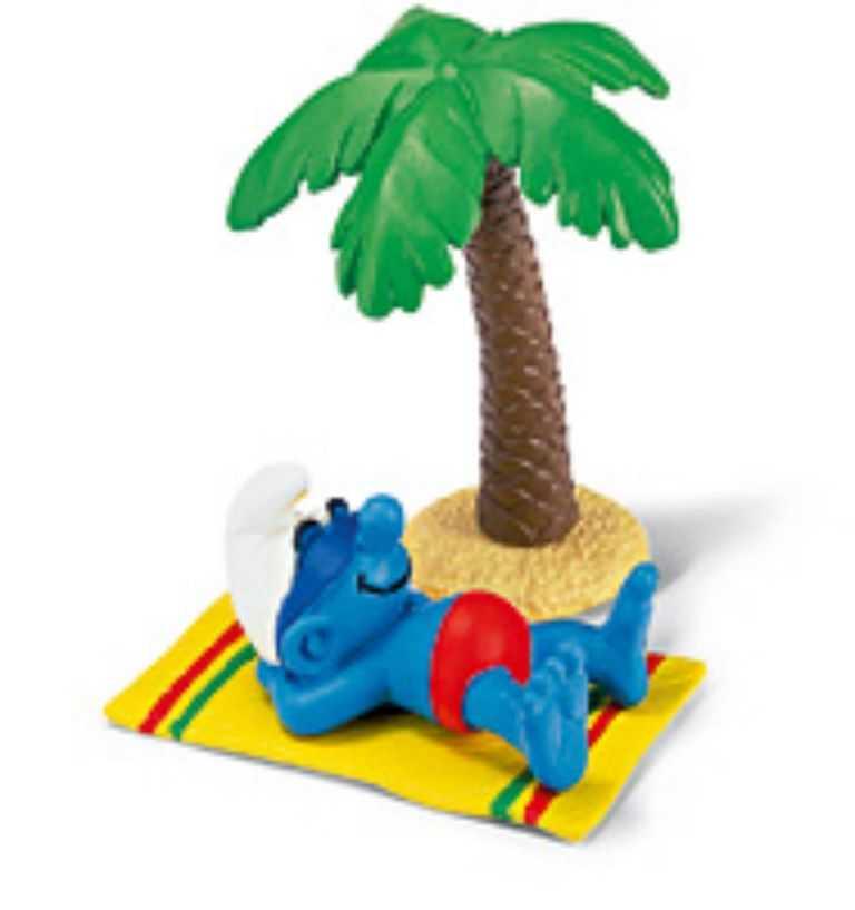 Figurky šmoulové  Schleich - Šmoula na dovolené