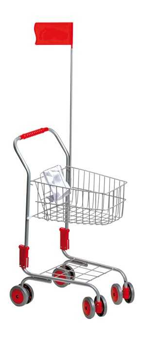 Small Foot Nákupní vozík, stříbrný