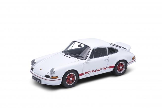 Welly Porsche 911 Carrera RS (1973) model 1:18 bílé s pruhem