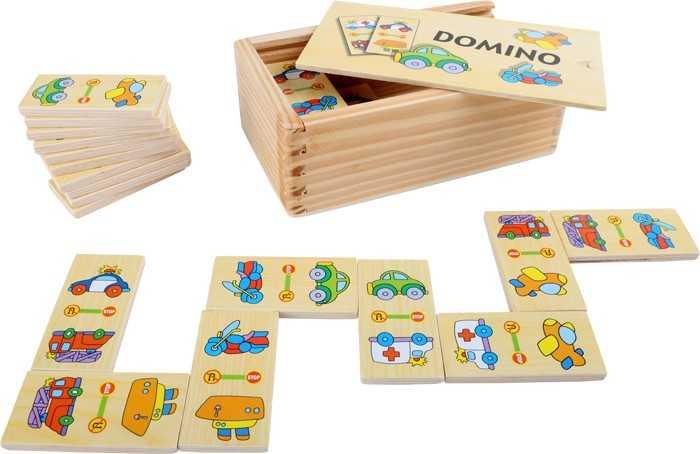Dřevěné hračky - Domino v boxu