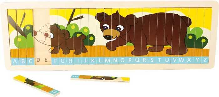 Small Foot Puzzle nauč se abecedu s medvědí rodinkou