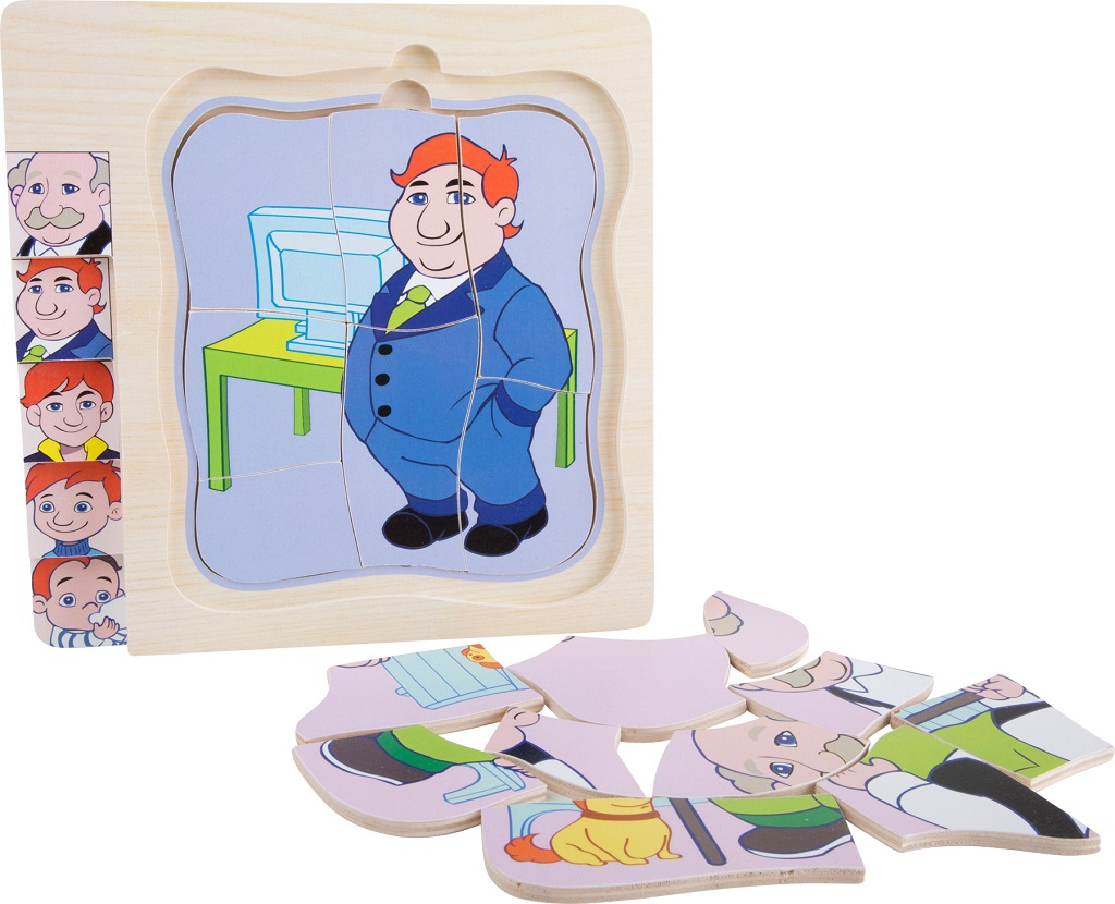 Dřevěná hračka - Puzzle - Životní vývoj muže