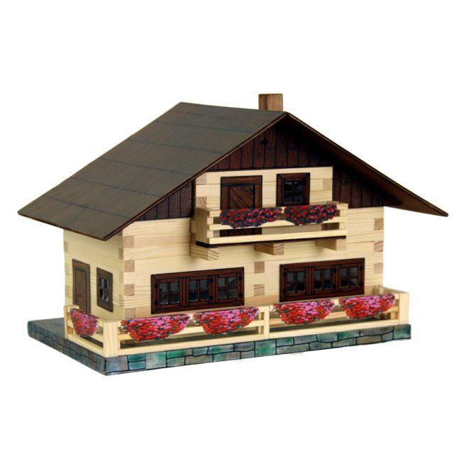 Walachia Dřevěná slepovací stavebnice Alpský dům