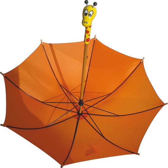 Dřevěné hračky Vilac - Oranžový deštník žirafa