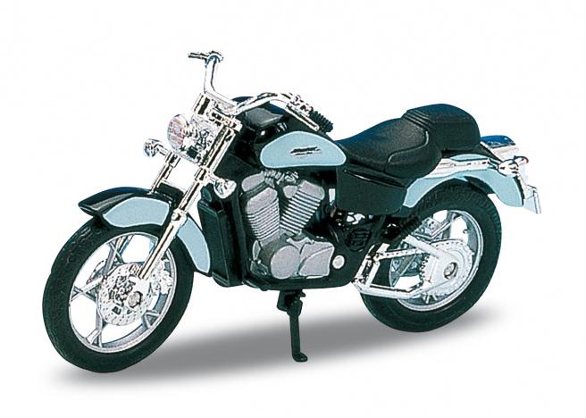 Welly - Motocykl Honda Shadow VT11C model 1:18 světle modrá
